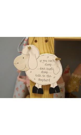 Wooden Sheep Plaque