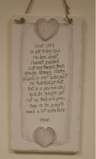 """Dear Lord..."" Wooden Plaque"
