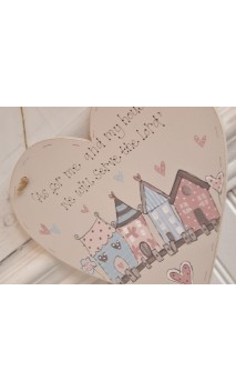 "Wooden Heart Plaque ""As for me and my house.."""
