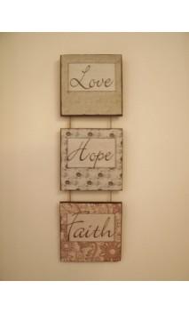 """Faith Hope Love"" Set Sm/long"