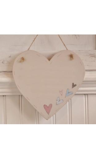Lg Wooden Heart Blank plaque - Hearts