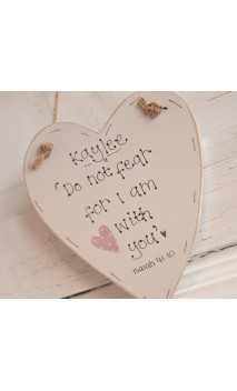 "Small heart plaque ""Do not fear.."""
